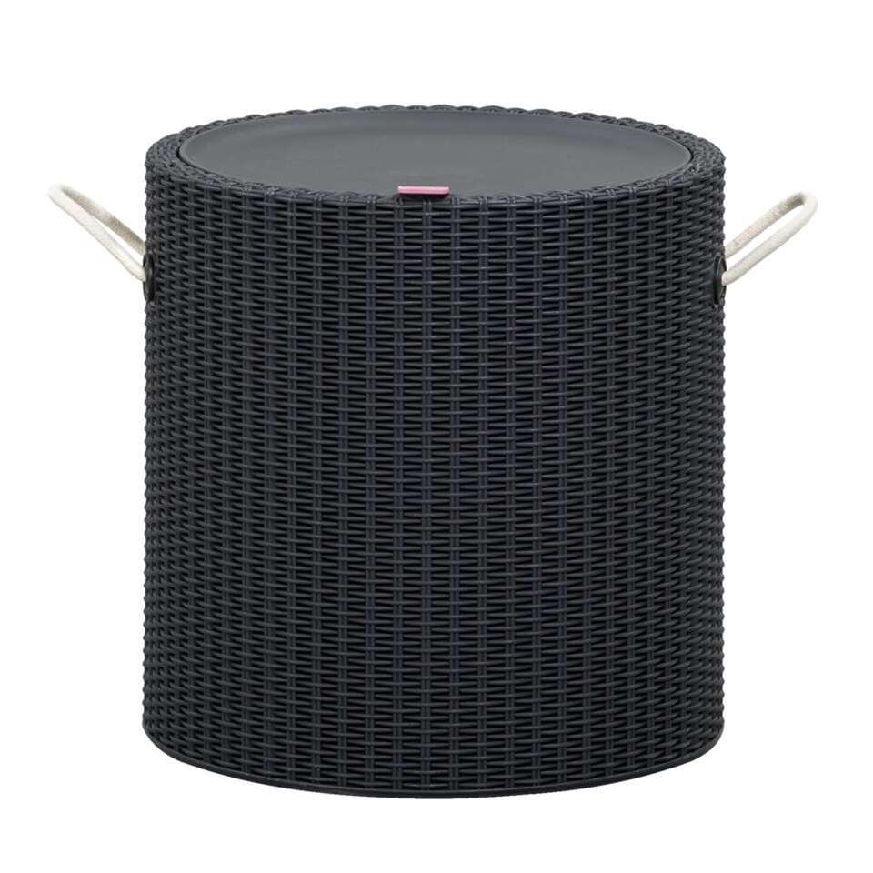 Keter coolstool - antraciet - 44x44x44 cm - Leen Bakker