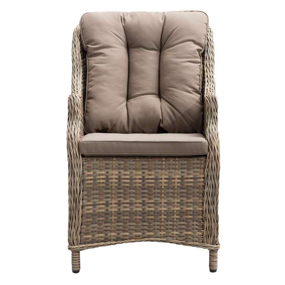 Le Sud loungefauteuil hoog Verona - kubu grijs - 61x76x96 cm - Leen Bakker