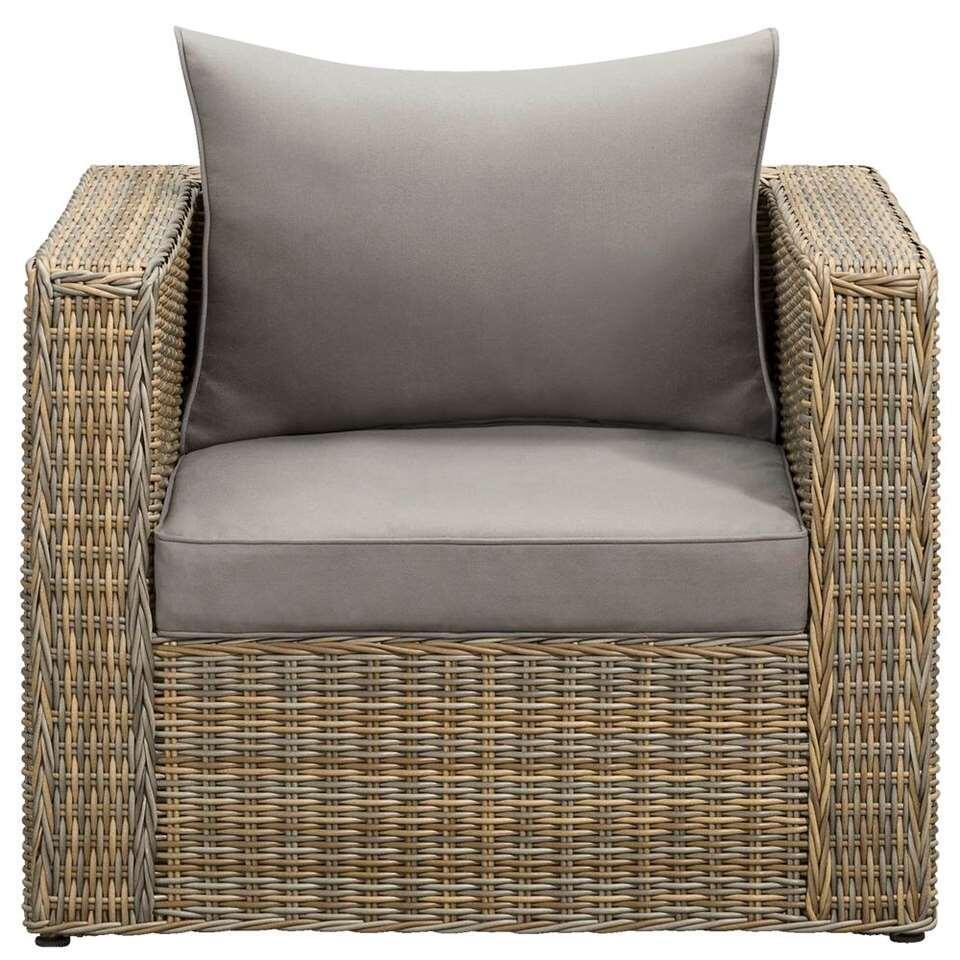 Le Sud fauteuil Pescara - taupe - 85x87x66 cm - Leen Bakker