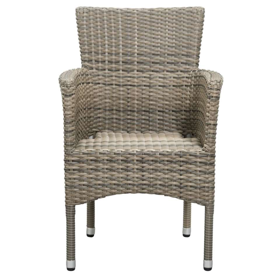 Le Sud fauteuil Verona stapelbaar - kubu grijs - Leen Bakker