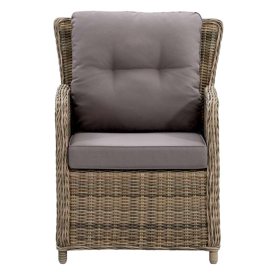 Le Sud fauteuil Verona verstelbaar incl. kussens - grijs - 82x73x92 - Leen Bakker
