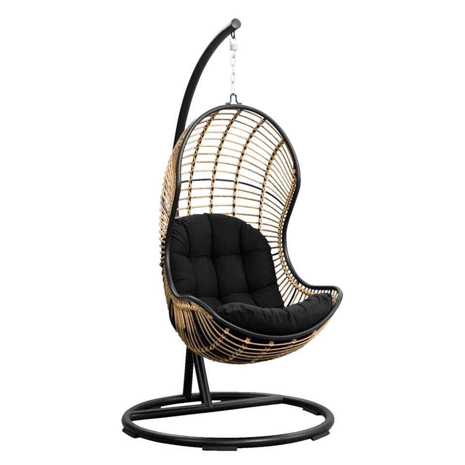 Zweefstoel Voor Buiten.Le Sud Hangstoel Vienne Zwart 105x196 Cm