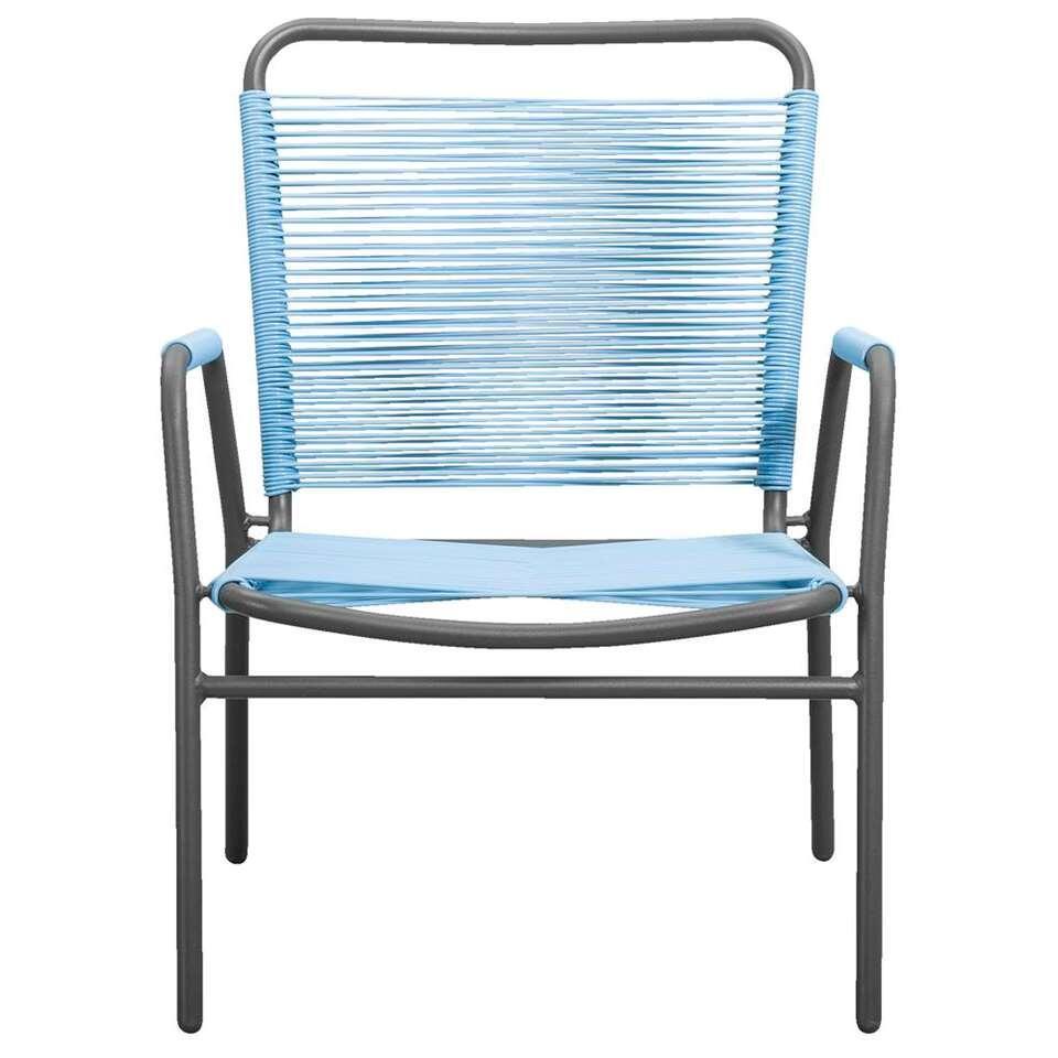 Loungefauteuil Cartagena - blauw - 78x69x61 cm - Leen Bakker