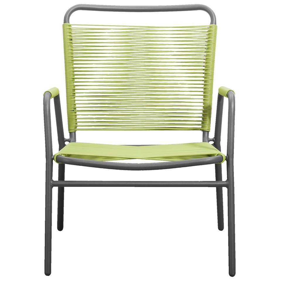 Loungefauteuil Cartagena - groen - 78x69x61 cm - Leen Bakker