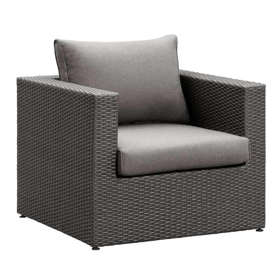 Le Sud fauteuil Ancona - antraciet - 84x86x66 cm - Leen Bakker