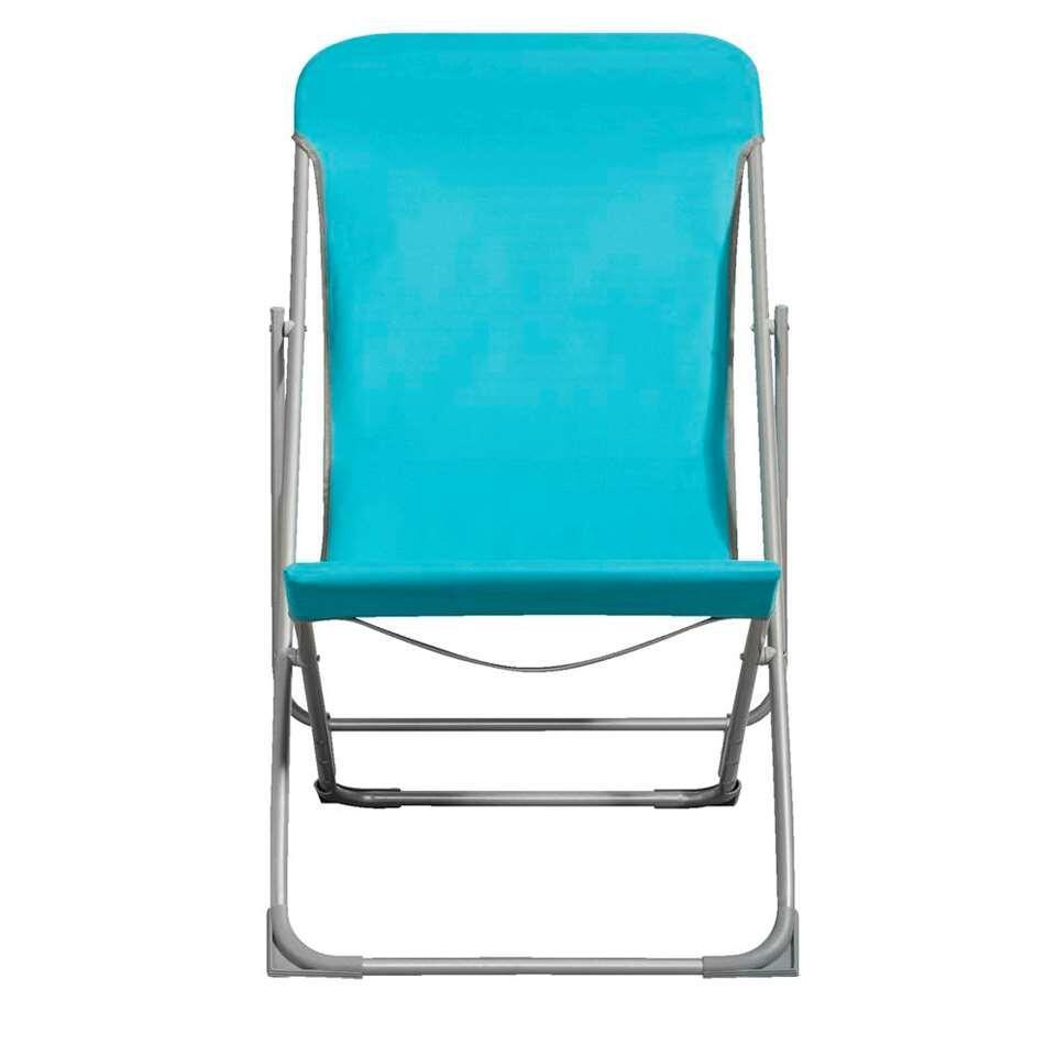 Strandstoel Bahama - blauw - Leen Bakker
