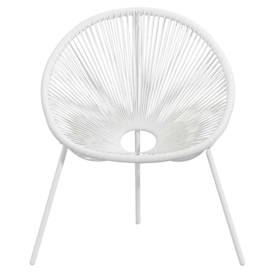 Loungestoel Formentera - wit - Leen Bakker