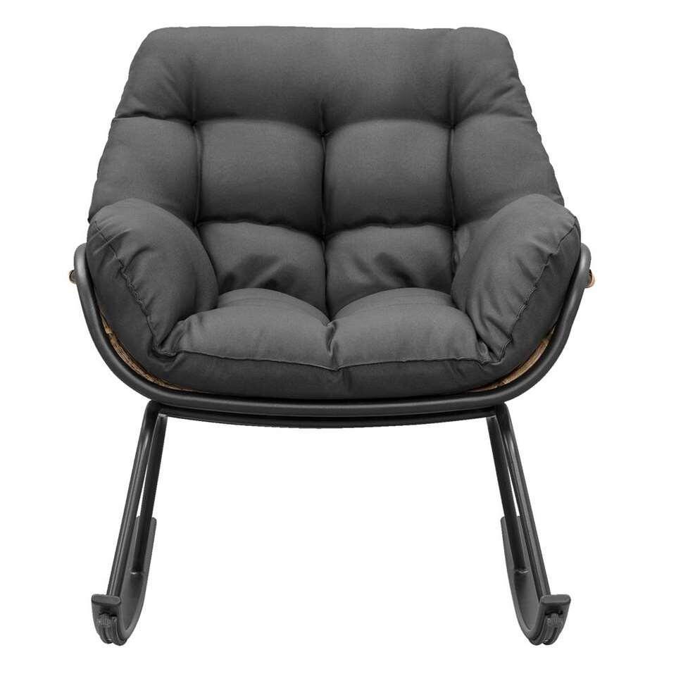Le Sud schommelstoel Vienne - zwart/naturel - Leen Bakker