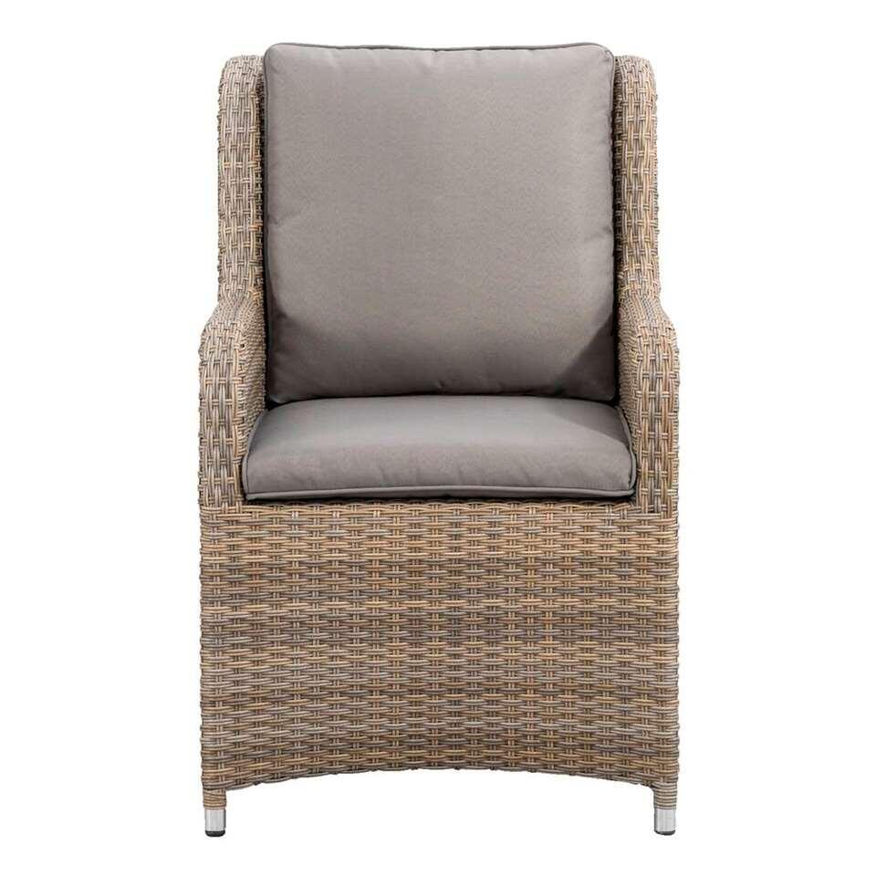 Le Sud fauteuil Gironde - bruin/grijs - 71x58x92 cm - Leen Bakker