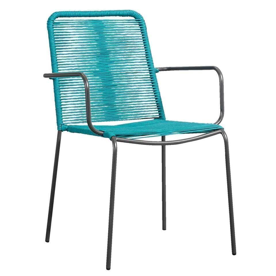 Le Sud fauteuil Metz - turquoise/antraciet