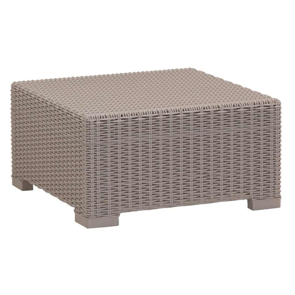 Allibert tafel California - cappuccino - 68x68x35 cm - Leen Bakker