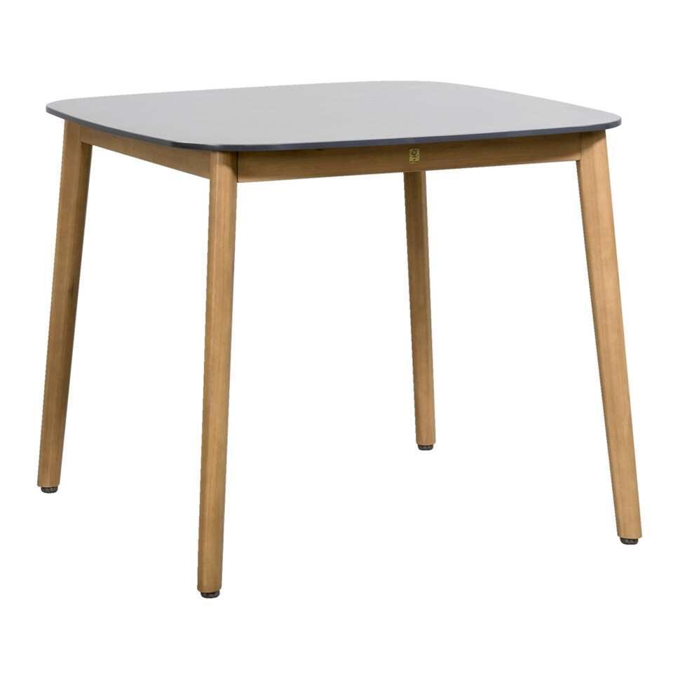 Vierkante Eettafel 90x90.Le Sud Tafel Abruzzo Bruin Grijs 90x90x74 Cm
