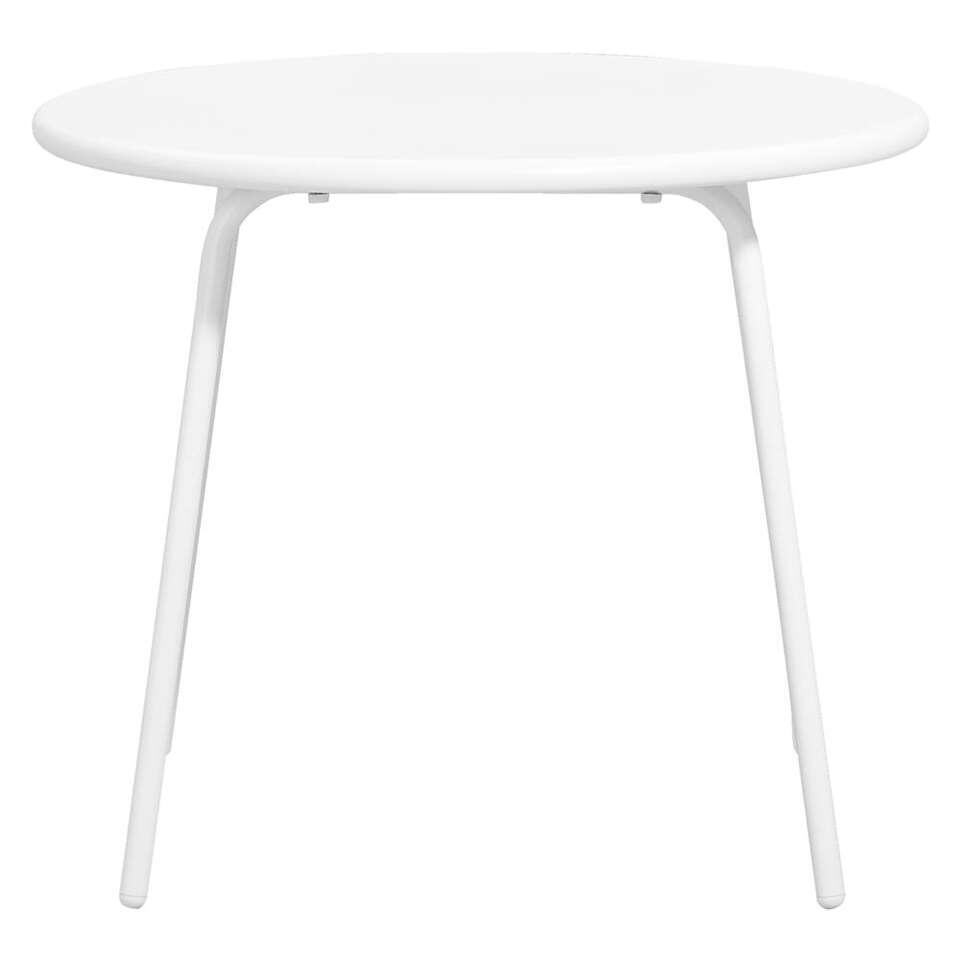 Bijzettafel Vilanova - wit - Ø60x50 cm - Leen Bakker