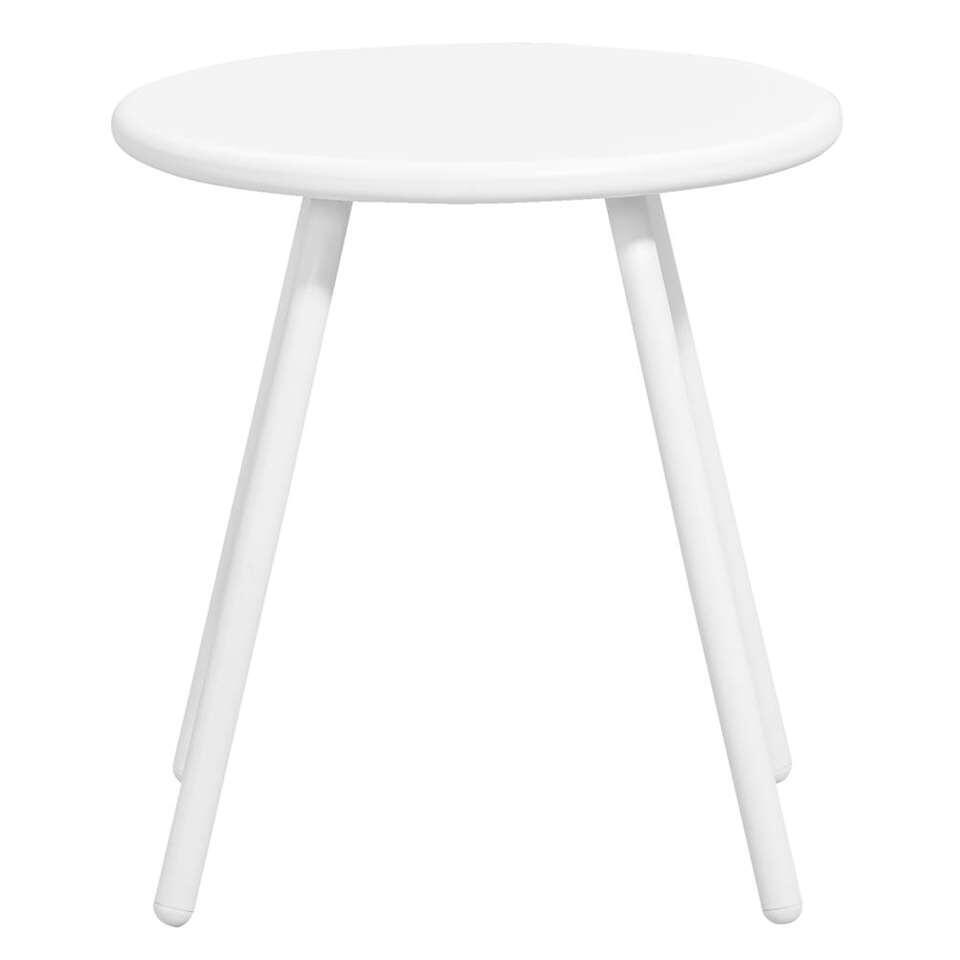 Bijzettafel Vilanova – wit – Ø39×41,5 cm – Leen Bakker