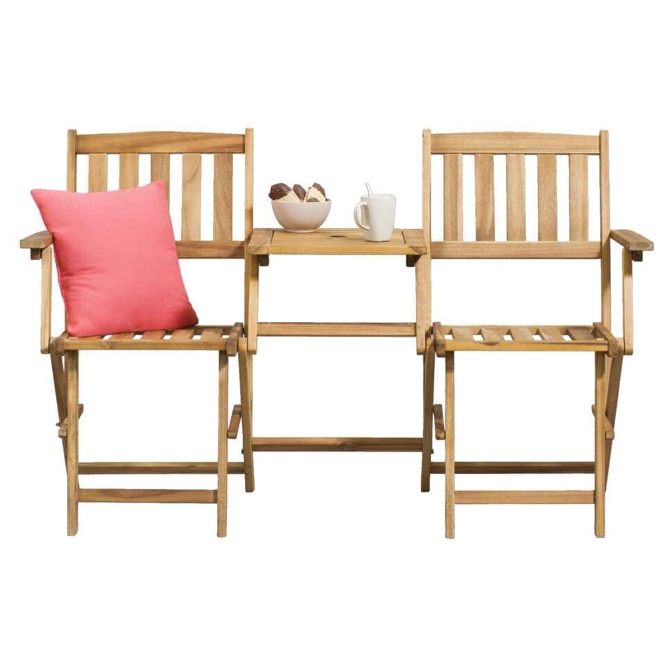 Le Sud klapbank loveseat Sevilla – houtkleur – 55x142x87 cm – Leen Bakker