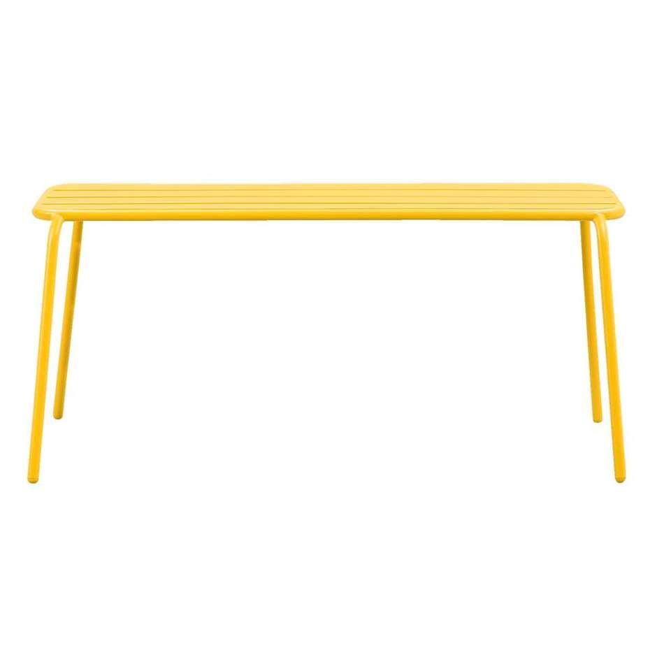 Bankje Menorca - geel - 45x50x108 cm - Leen Bakker
