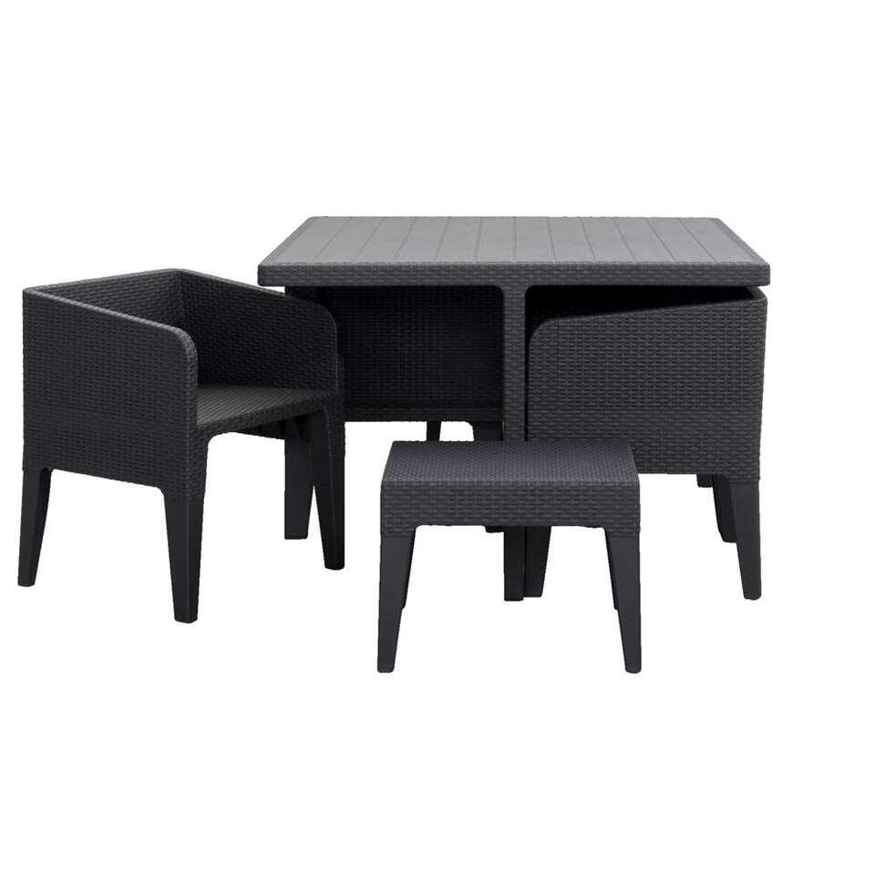 Keter loungeset Colombia - grijs - 7-delig (exclusief kussens) - Leen Bakker