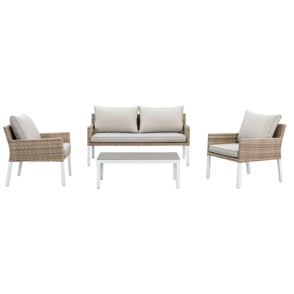 Le Sud salon lounge Fonteine - blanc/beige - 4 pièces