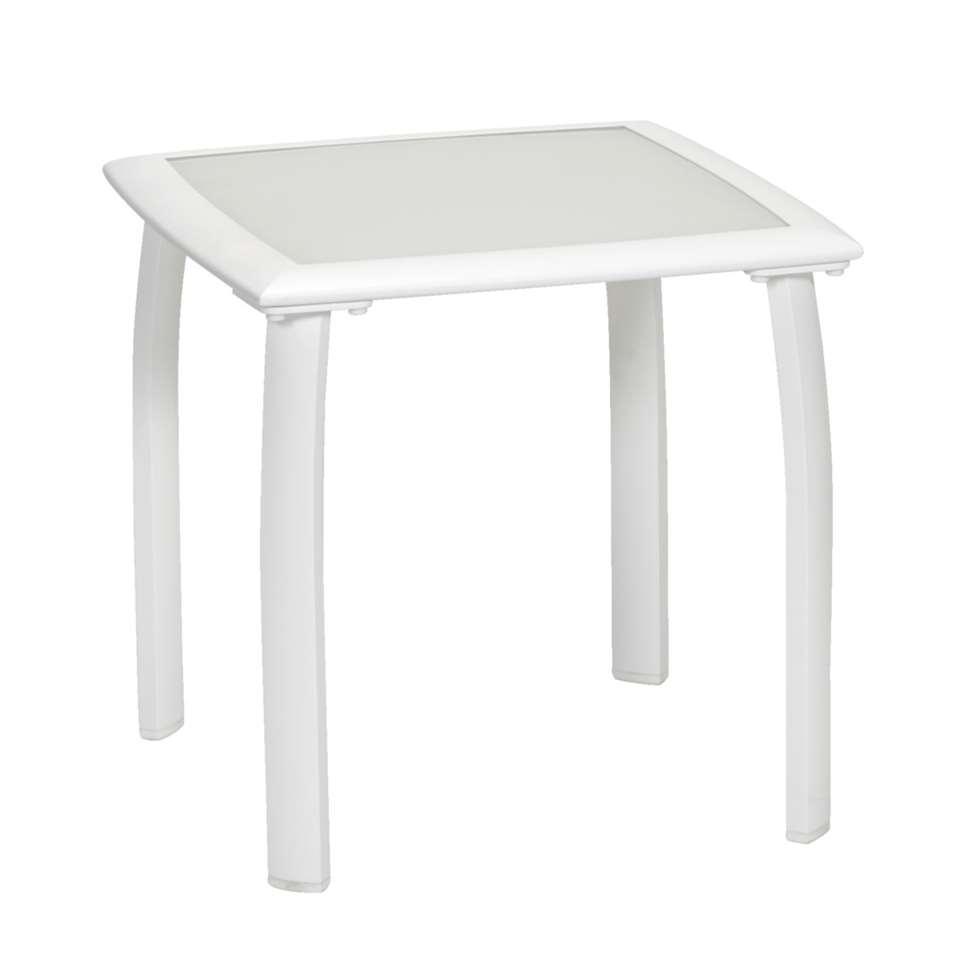Bijzettafel Tivoli – wit – 50x50x48 cm – Leen Bakker