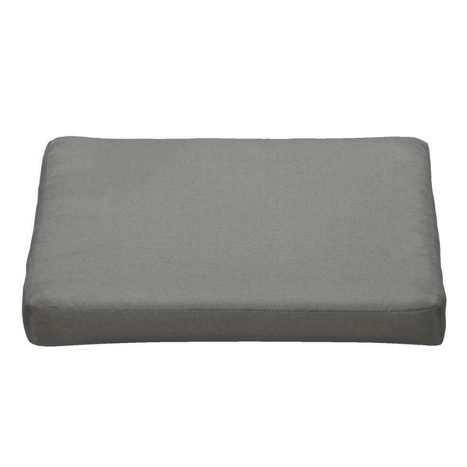 Kussen Cube - donkergrijs - 42x42x5 cm - Leen Bakker