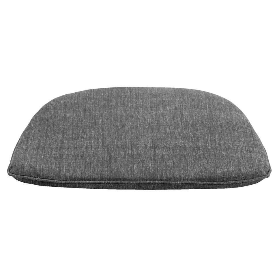 Kussen kuipstoel Universeel – grijs – 44x43x3 cm – Leen Bakker