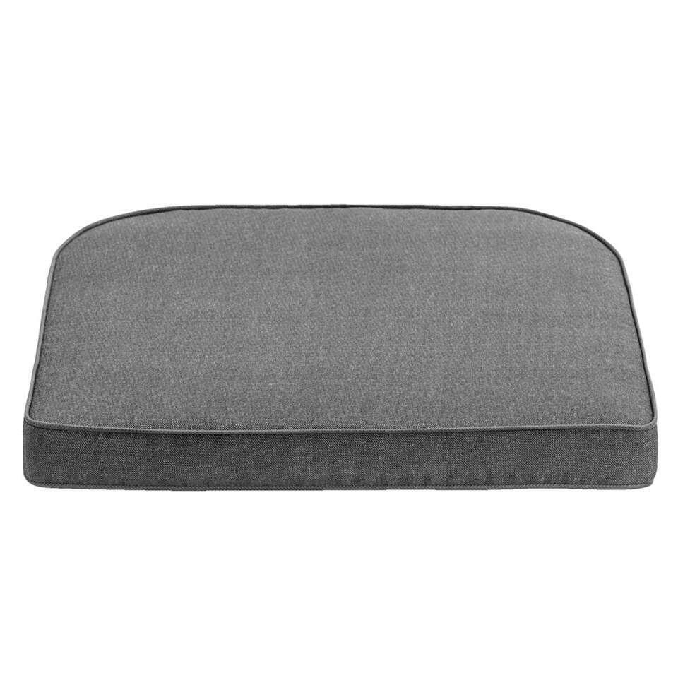 Kussen Verona - grijs - 45x47x6 cm - Leen Bakker