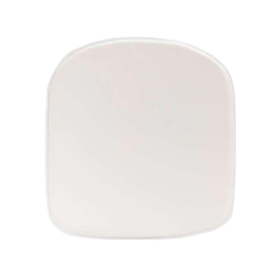 Kussen voor kuipstoel Marseille - wit - 43x46 cm - Leen Bakker