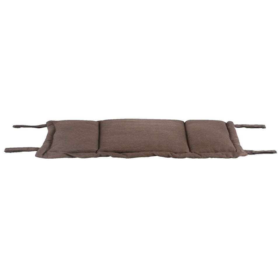 Voetenbankkussen Capri – bruin – 62x45x45 cm – Leen Bakker