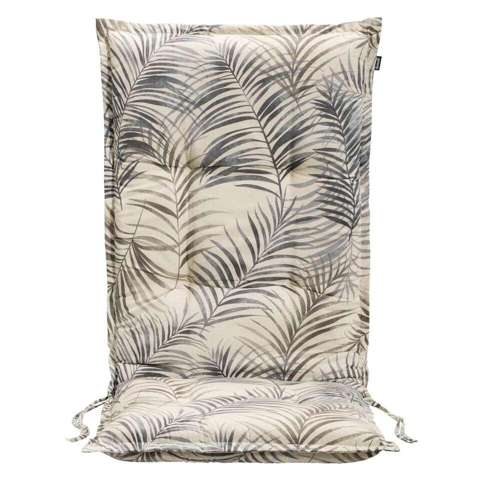 Hartman terrasstoelkussen Palm Springs - grijs - 123x50x8 cm - Leen Bakker