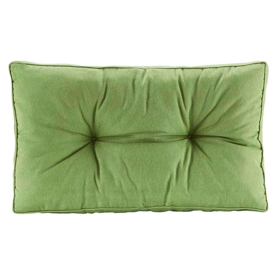 Loungekussen Florence rug - groen - 73x43 cm - Leen Bakker