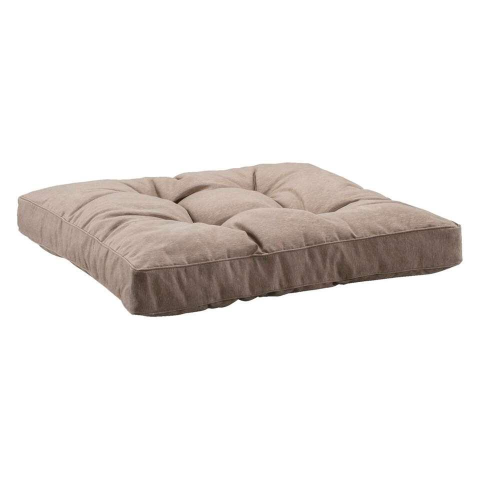 Loungekussen Florence - taupe - 60x60 cm - Leen Bakker