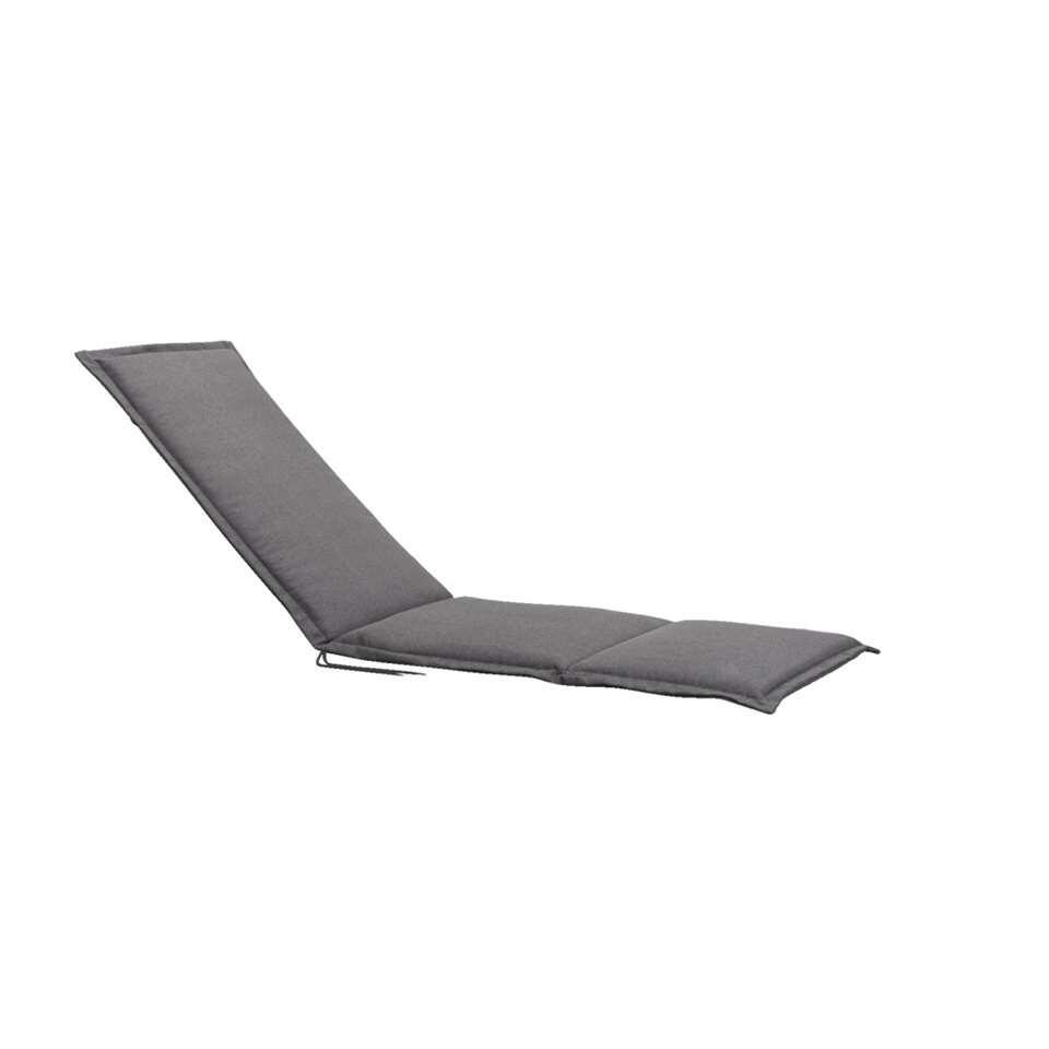 Relaxfauteuilkussen Cannes – grijs – 164x52x4 cm – Leen Bakker