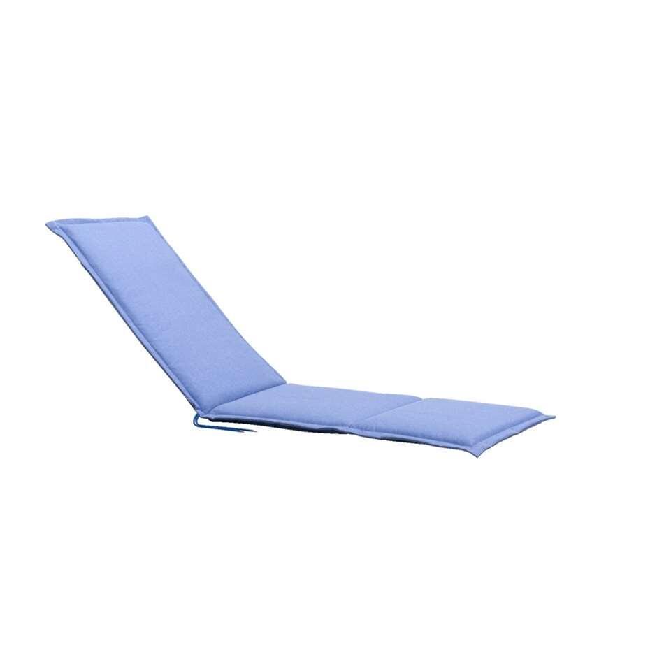 Relaxfauteuilkussen Cannes - blauw - 164x52x4 cm - Leen Bakker