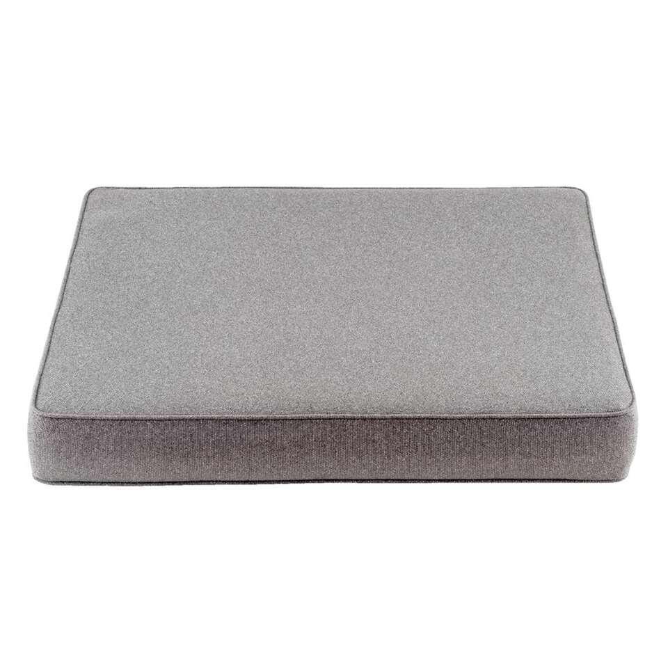Le Sud zitkussen Orleans - grijs - 73x73x10 cm - Leen Bakker