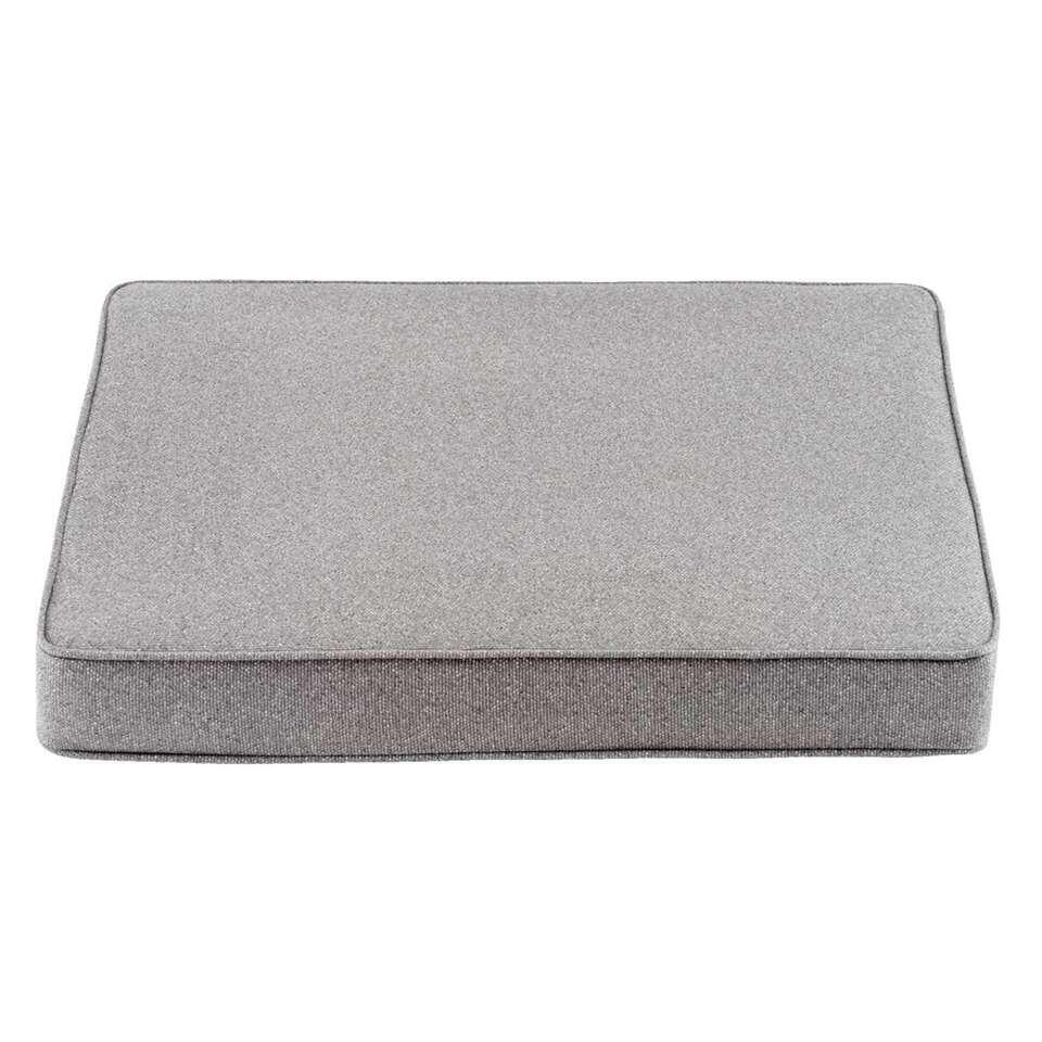 Le Sud zitkussen Orleans - grijs - 60x60x8 cm - Leen Bakker