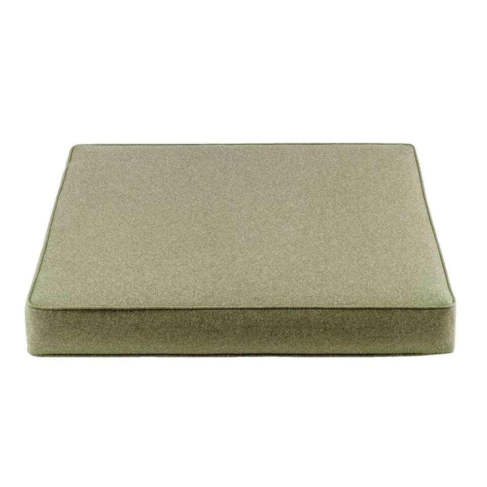 Le Sud zitkussen Orleans - groen - 73x733x10 cm - Leen Bakker