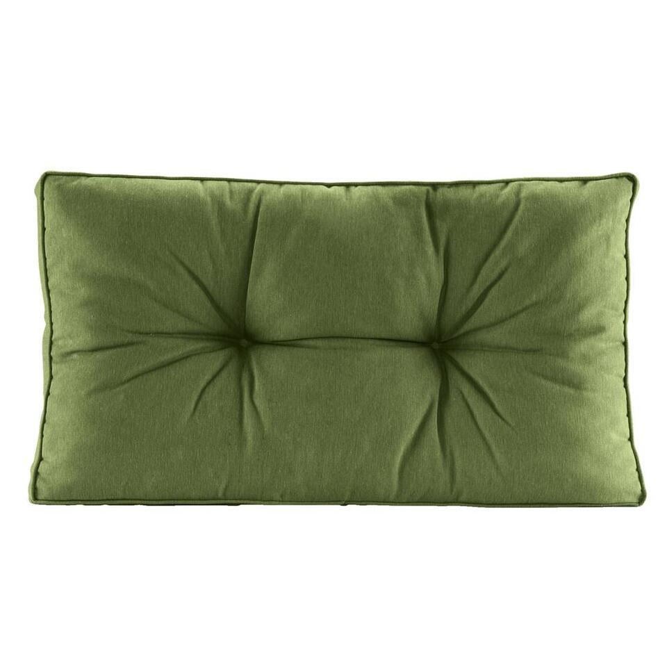 Loungekussen Florence rug - donkergroen - 60x43 cm - Leen Bakker