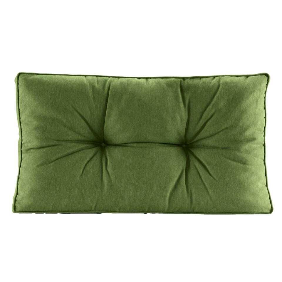Loungekussen Florence rug - donkergroen - 80x43 cm - Leen Bakker