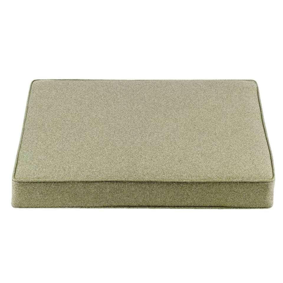 Le Sud zitkussen Orleans - groen - 60x60x8 cm - Leen Bakker