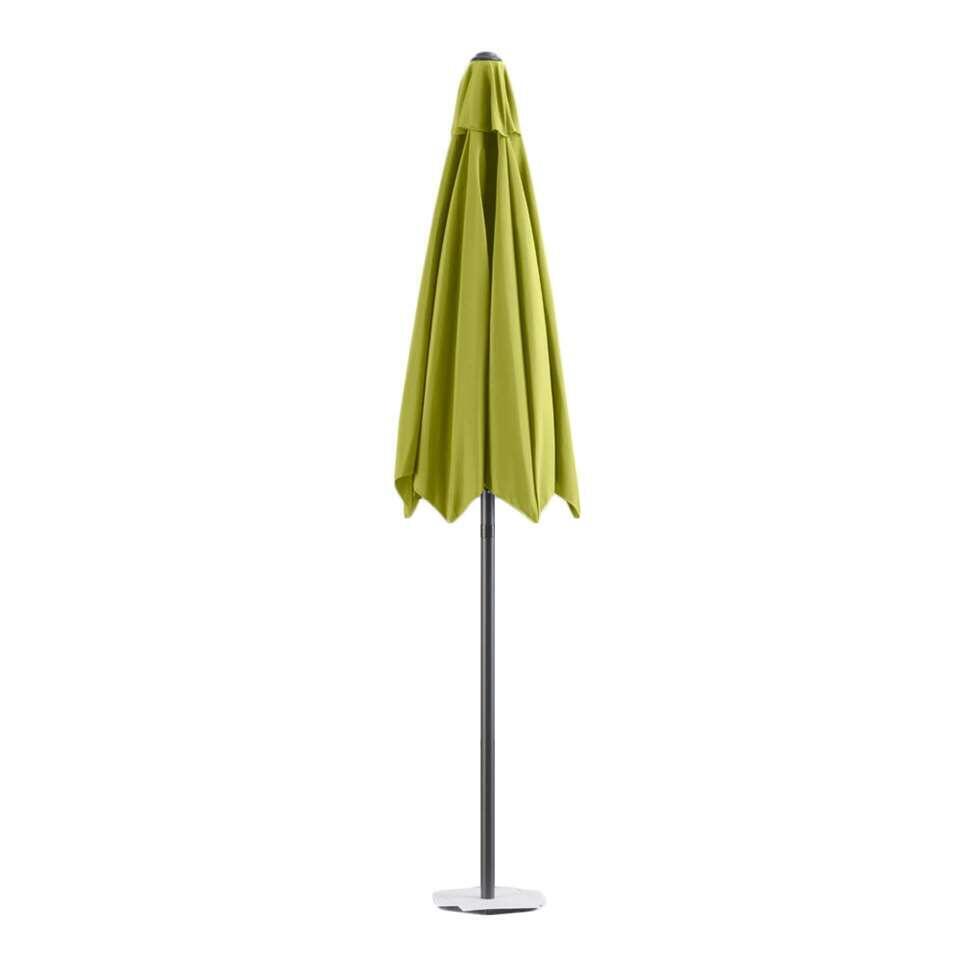 Le Sud parasol Blanca – antraciet/lime – Ø250 cm – Leen Bakker