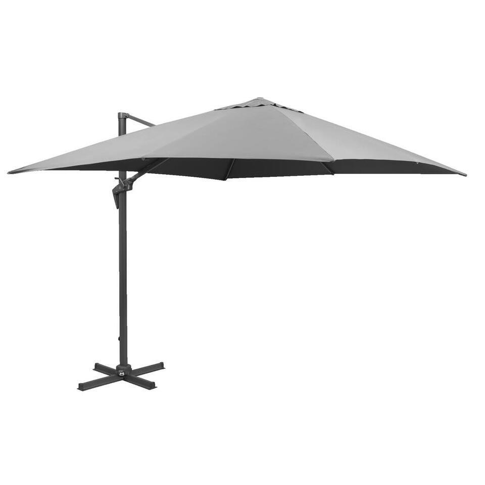 Le Sud freepole parasol Nice - antraciet - 300x300 cm - Leen Bakker