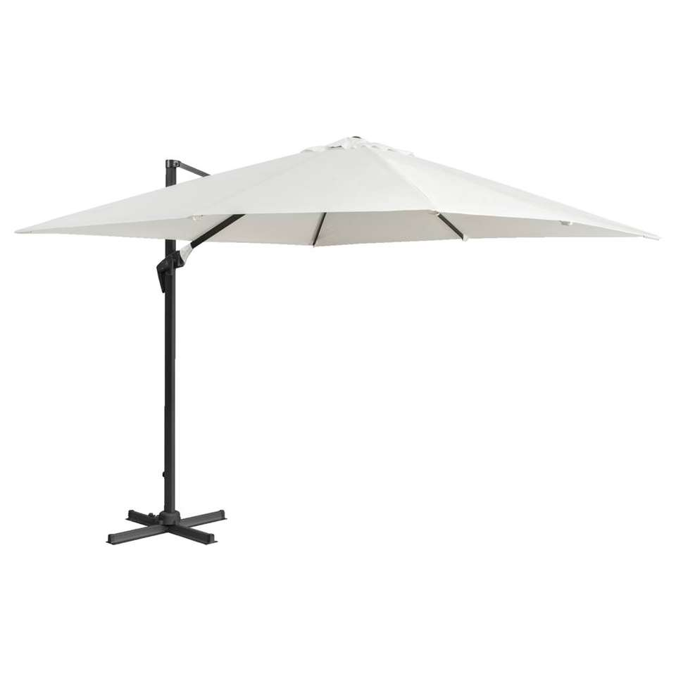 Le Sud freepole parasol Nice - ecru - 300x300 cm - Leen Bakker