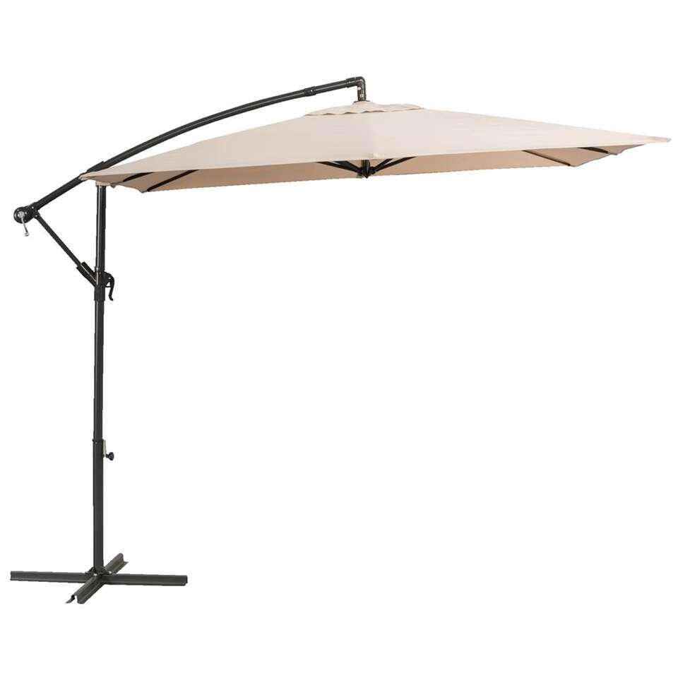 Le Sud freepole parasol Brava - antraciet/taupe - 250x250 cm - Leen Bakker