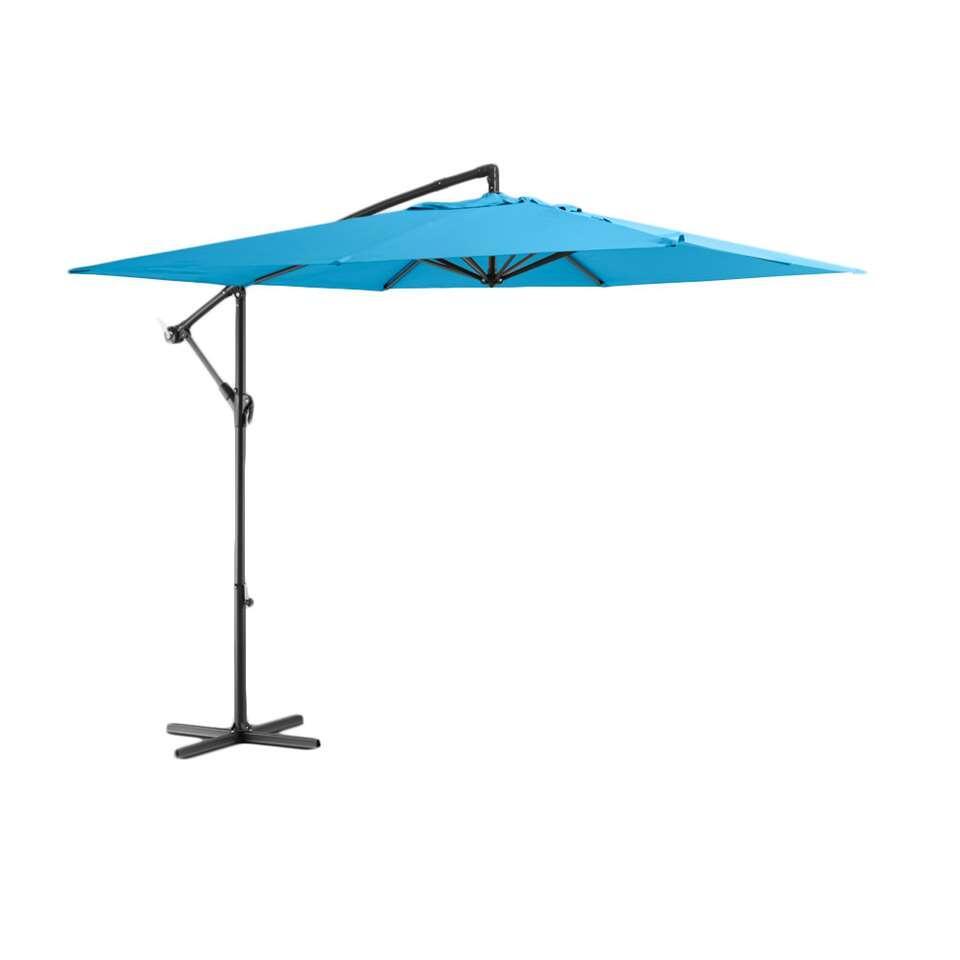Le Sud freepole parasol Brava - aqua - Ø250 cm - Leen Bakker