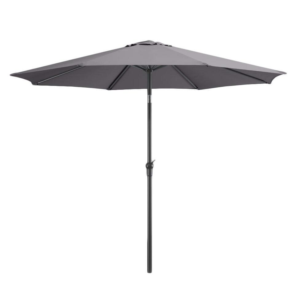 Deze parasol heeft een aluminium frame en een stevig doek  in de kleur antraciet. De parasolkomt uit onze Le Sud Collectie,de tuinmeubelenvan Le Sud zijngemaakt van hoogwaardige materialen en hebben een trendy en eigentijds de