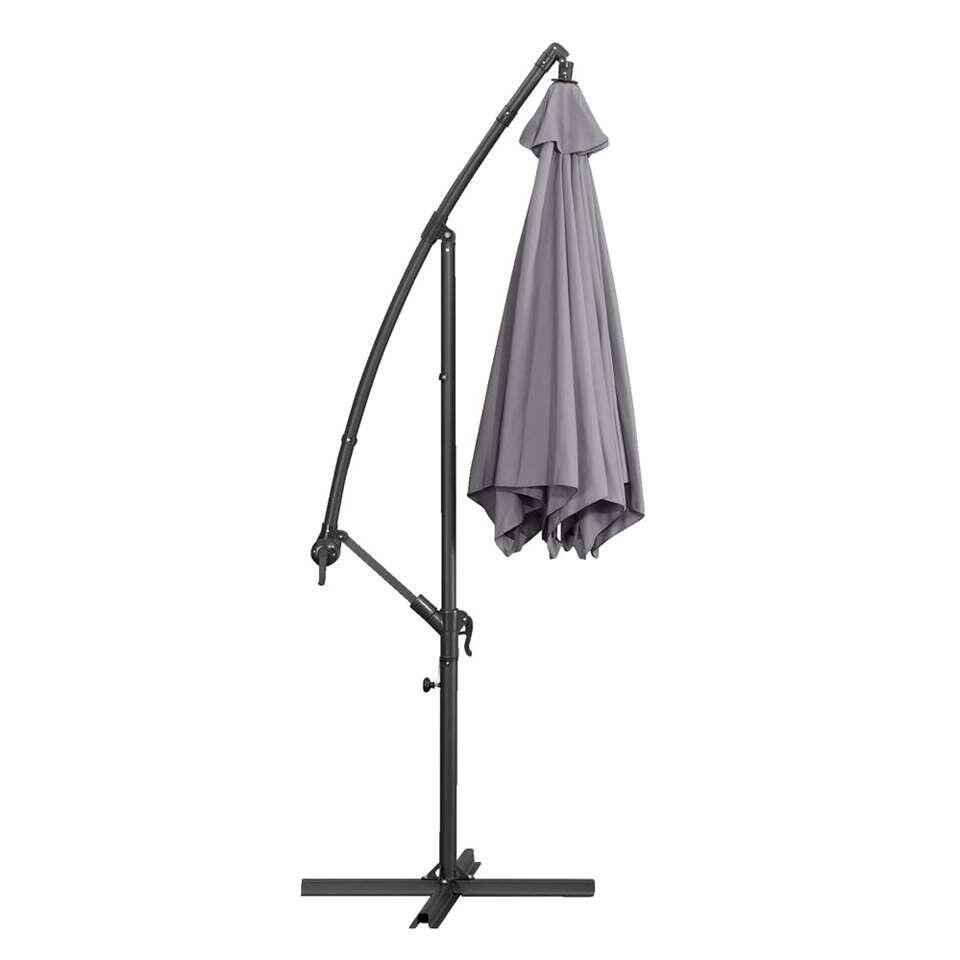 Le Sud freepole parasol Brava - antraciet - 300 cm - Leen Bakker