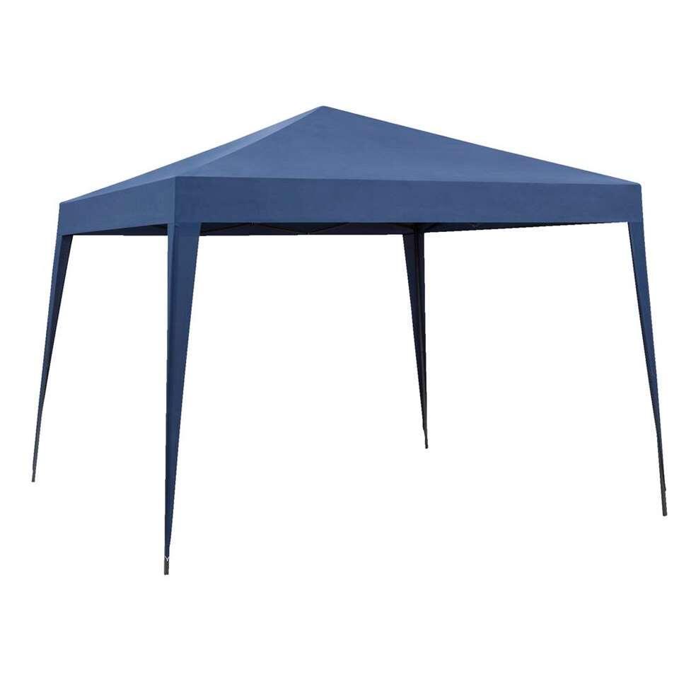 Partytent Faro vouwbaar - blauw - 293x293x250 cm - Leen Bakker