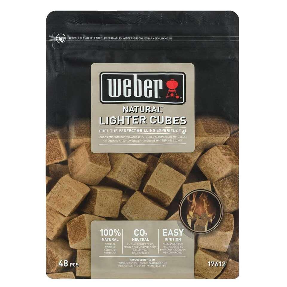 Weber aanmaakblokjes - bruin - 48 stuks - Leen Bakker