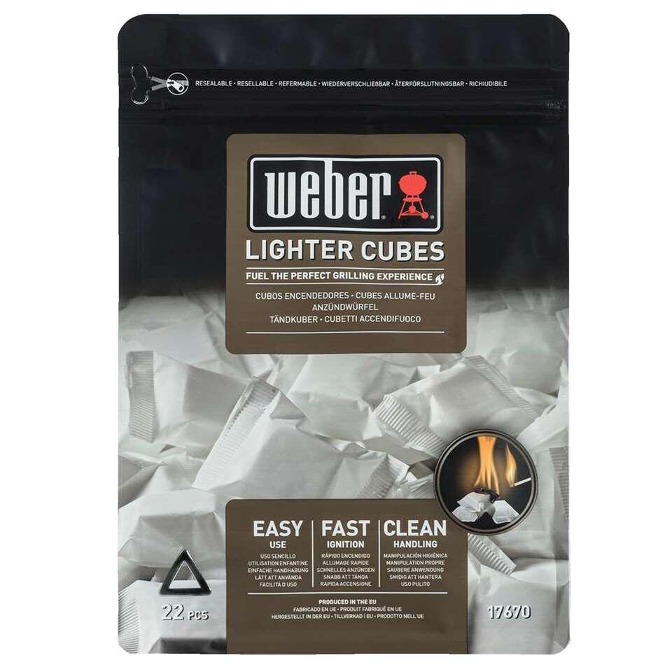 Weber aanmaakblokjes - wit - 22 stuks - Leen Bakker