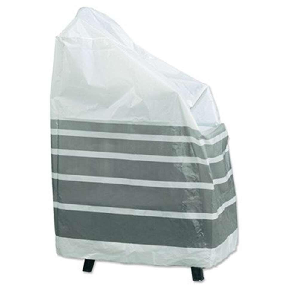 Handy beschermhoes voor 4 stapelstoelen - wit/grijs - 75x90x90 cm - Leen Bakker